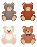 Insieme dell'orso del giocattolo Immagini Stock