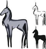 Insieme dell'unicorno Immagini Stock Libere da Diritti