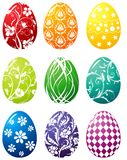 Insieme dell'uovo di Pasqua Fotografie Stock Libere da Diritti