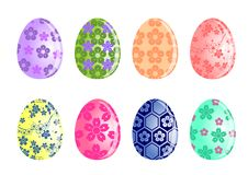 Insieme dell'uovo di Pasqua fotografia stock libera da diritti