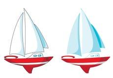 Insieme dell'yacht Immagini Stock Libere da Diritti