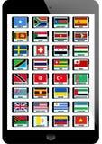 Insieme della bandiera Fotografia Stock Libera da Diritti