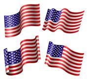 Insieme della bandiera americana Immagini Stock