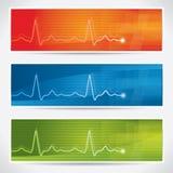 Insieme della bandiera del cardiogram di vettore illustrazione vettoriale