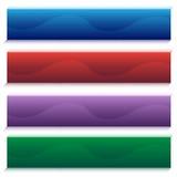 Insieme della bandiera dell'onda illustrazione di stock
