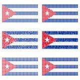 Insieme della bandiera di Cuba del mosaico royalty illustrazione gratis