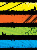 Insieme della bandiera di Grunge Immagine Stock Libera da Diritti