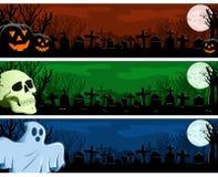 Insieme della bandiera di Halloween Immagini Stock