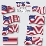 Insieme della bandiera di U.S.A. Fondo astratto di vettore per la vostra progettazione Immagini Stock