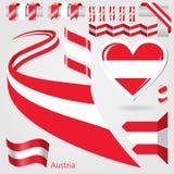 Insieme della bandiera di vettore dell'Austria Fotografie Stock