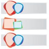Insieme della bandiera di Web di colore di vettore Fotografie Stock Libere da Diritti