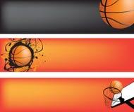 Insieme della bandiera di Web di pallacanestro royalty illustrazione gratis