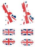 Insieme della bandierina del Regno Unito Fotografie Stock Libere da Diritti