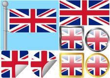 Insieme della bandierina della Gran Bretagna Immagine Stock