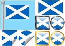 Insieme della bandierina della Scozia Fotografia Stock