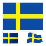 Insieme della bandierina della Svezia Fotografia Stock Libera da Diritti