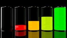 insieme della batteria 3D Fotografia Stock Libera da Diritti
