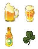 Insieme della birra Immagini Stock