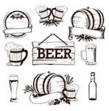 Insieme della birra Illustrazione Vettoriale