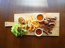 Insieme della bistecca del collo della carne di maiale di Kurobuta Fotografia Stock