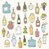Insieme della bottiglia illustrazione vettoriale