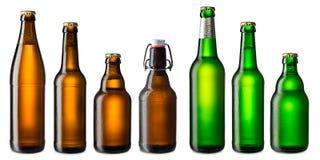 Insieme della bottiglia di birra Immagine Stock Libera da Diritti