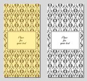 Insieme della cartolina d'auguri d'annata del modello Fotografie Stock Libere da Diritti