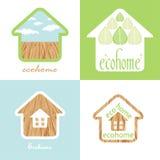 Insieme della casa di Eco della struttura di legno materiale naturale Immagine Stock Libera da Diritti