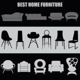 Insieme della casa Migliore mobilia domestica Fotografie Stock