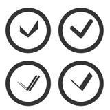 Insieme della casella di controllo Accetti, casella di controllo o stile di esclusiva del segno di spunta Fotografie Stock
