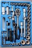 Insieme della chiave a bussola in scatola di plastica Fotografie Stock