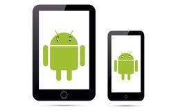 Insieme della compressa realistica Android di Ipad del telefono cellulare di Android di vettore Immagini Stock