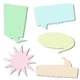 Insieme della conversazione della bolla di stile Illustratore eps10 Fotografia Stock