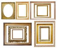 Insieme della cornice dell'oro dell'annata Fotografia Stock Libera da Diritti