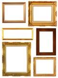 Insieme della cornice dell'oro dell'annata immagine stock libera da diritti