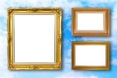 Insieme della cornice Galleria di arte della foto su cielo blu Immagini Stock Libere da Diritti