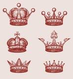 Insieme della corona Immagini Stock