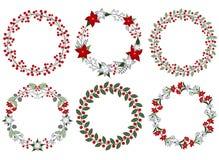Insieme della corona di Natale Fotografia Stock