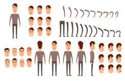 Insieme della creazione del carattere dell'uomo illustrazione di stock