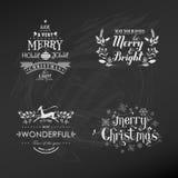 Insieme della decorazione di Natale illustrazione vettoriale