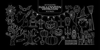 Insieme della decorazione isolata di Halloween Immagine Stock