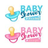 Insieme della doccia di bambino Immagine Stock Libera da Diritti