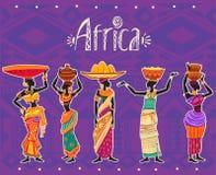 Insieme della donna africana in vestito etnico Fotografia Stock Libera da Diritti