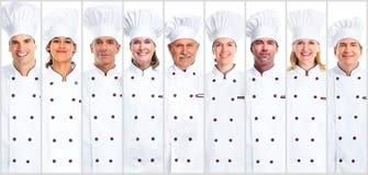 Insieme della donna e dell'uomo del cuoco unico Immagini Stock
