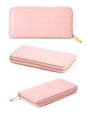 Insieme della donna rosa della borsa Immagine Stock
