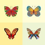 Insieme della farfalla Fotografia Stock Libera da Diritti