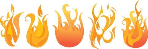Insieme della fiamma di vettore Immagine Stock