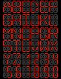 Insieme della fonte tipografica del visualizzatore digitale del LED Fotografie Stock Libere da Diritti