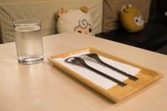 Insieme della forchetta e del cucchiaio Immagini Stock