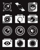 Insieme della foto delle icone e del logos di vettore Fotografia Stock Libera da Diritti